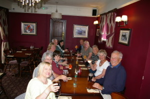 The Club enjoying our now annual summer outing and meal