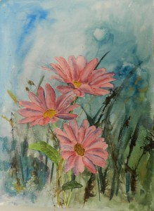 PINK DAISY'S Mixed Media