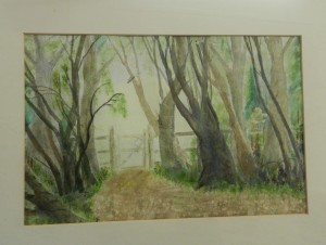 GATE IN THE WOODS Watercolour