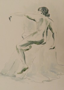 Life Study Watercolour 27 cm X 38 cm Price Unframed £30