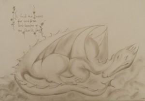 The Dragon Pencil 41 cm X 30 cm Price Unframed £45